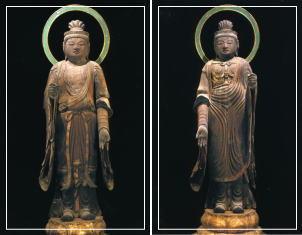梵天立像・帝釈天立像